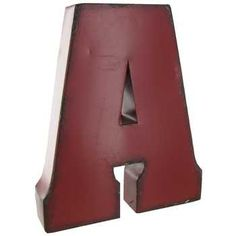 Large Red, Blue or Brown Metal Letter