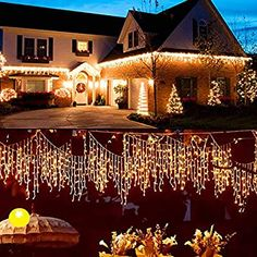 70 PK Holiday Time Random Twinkle Cool White LED Icicle Christmas Lights New