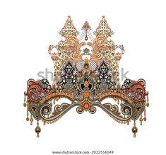 Digital Textile Design Motif Botanical Flower Stock Illustration 2022556049