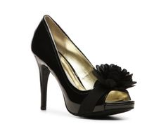 ~ I don't know if these would go well with the satin dress but I like the style of them... maybe if I got faux leather cream shoes I don't know ~V~ Carlos by Carlos Santana Cupcake Patent Pump