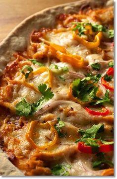 Barbecue Chicken Thin Crust Pizza