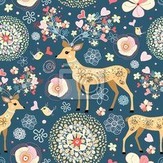 Wall Decal texture is fabulous flower deer - flowers • PIXERSIZE.com