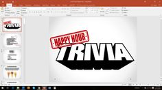 GAME 5- ALL NEW QUESTIONS!  Play a riveting game of Happy Hour Trivia with your friends, family, coworkers, or truly anyone who fancies a round of brain-powered competition!  Great for: -Family Game Nights (Ages 13 and over recommended) -Friday night with friends -Office Happy Hours -Team-building -Dormitory/RA Programming  This trivia game is meant to be run pub style, meaning a host/hostess/trivia-master reads questions, plays a song, allowing the group time to submit an answ...