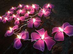 Flor de color púrpura oscuro cadena luces para el Patio por ginew