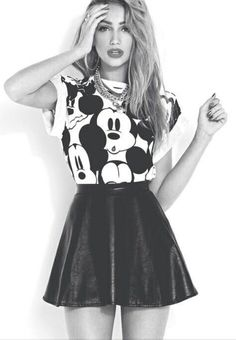 Love | Mickey Mouse | Black and white | Teen Fashion | ∞