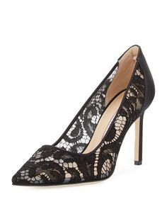 8d433a1916c MANOLO BLAHNIK Bb Lace 90Mm Pointed-Toe Pump