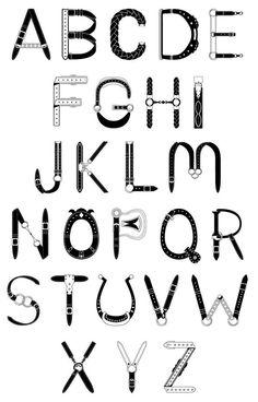 Harness Font by Julie Chapalain, via Behance