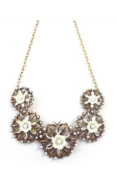 Vintage Hollow Flower Pendant Necklace [FTBJ00237]- US$ 8.99 - PersunMall.com
