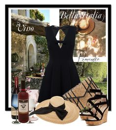 """""""Vino - Bella Italia"""" by mela-at-munich ❤ liked on Polyvore featuring Laura Ashley, Pottery Barn, John Lewis, Rebecca Minkoff, Kreisi Couture, Charles by Charles David, girlstrip and WineTastingOutfit"""