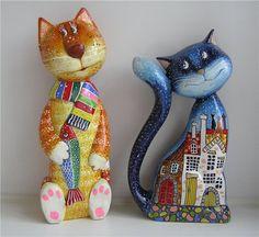 Два котика мастера из Киева В. Карякина