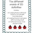 The different sounds of ed! t/d/ed This Mini Bundle Contains three activities     1. Ladybug Sort The Different Sounds of ED.  Directions: Sort the ladybug to the right leaf! Say the wo...