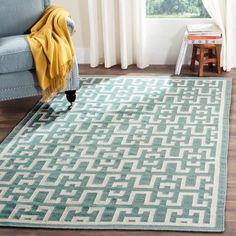 Safavieh Dhurries Seafoam/Ivory Outdoor Area Rug Rug Size: 8' X 10'