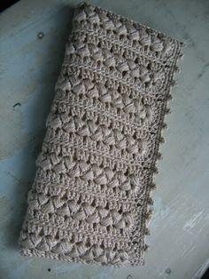 Crochet clutch purse.