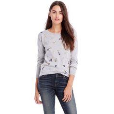 NWT Armani Exchange sweater New with tags! Grey embellished sweater. 100% cotton Armani Exchange Sweaters Crew & Scoop Necks
