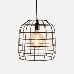 Constructed from metal, this Cage Pendant is both decorative and functional. Fits a large Edison Screw bulb (not included). Industrial Loft, Vintage Industrial, City Living, Shop Lighting, Winter Garden, Cage, Interior Decorating, Bulb, Ceiling Lights