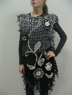 Handmade Crocheted Woolen Grayblack by CrochetKnitAccessory