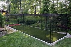 home batting cage with pitching machine - Google Search