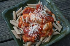 Chicken Parmesan in the Slow Cooker - use chicken nuggets or tenders in a pinch!!