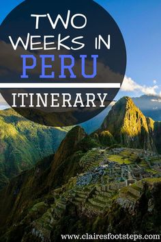 If you are spending 2 weeks in Peru, you might be after a Peru itinerary that will take you to all of the best spots of the country. Check out this post for tips on how to have the best two weeks in Peru!