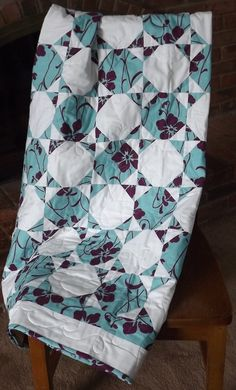 MODERN QUILT Handmade Two Color Lap Throw Custom by WeDoQuilts, $125.00