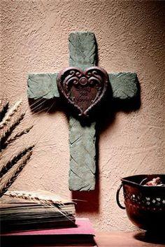 +♥cross♥+ Loving You Forever Cross w/Mini Heart Photo Frame Cross Love, Cross Heart, Sign Of The Cross, The Cross Of Christ, Crosses Decor, Wall Crosses, Wooden Crosses, Old Rugged Cross, Love You Forever