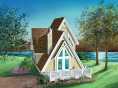 072H-0017: Vacation A-Frame House Plan