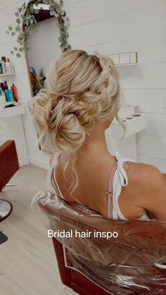 Dance Hairstyles, Side Hairstyles, Wedding Hairstyles For Long Hair, Modern Hairstyles, Wedding Hair And Makeup, Hair Makeup, 50s Wedding Hair, Bridal Hairstyles, Dream Wedding
