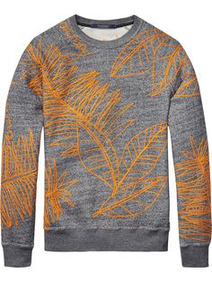 Embroidered Melange Sweater