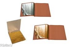 24k gold on base leaf #sheets + pure .999 #edible silver leaf for arts #crafts ca,  View more on the LINK: 	http://www.zeppy.io/product/gb/2/201380474280/