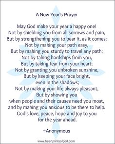 A New Year's Prayer for You~