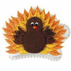 This Thanksgiving, present Tom Turkey in a new way—atop a Crown Pan cake. Use the largest Leaf Cut-Out to form fondant feathers, fashion the torso from cookies, and then watch guests gobble up your flavorful bird.