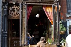 MUD Coffee ~ LES NYC. Great name, and love the decor of their Lower East Side cafe, which boasts a cute rear courtyard.