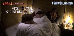 Can I join in on this bed? #newjourneytothewest3 #kyuhyun #ahnjaehyun #mino #eunjiwon