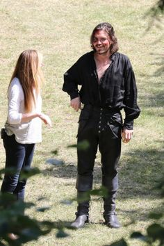 The Musketeers - Series III BtS filming (Athos) + Jessica Pope?