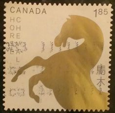 awesome horse Canada stamp. Thanx Gen