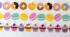Cupcake and Donut Die Cut Washi Rolls by DaisyGreyPretties on Etsy
