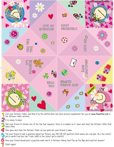 Print, cut and have fun ! » Fortune-tellers » Fulanitos like you...