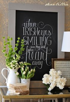 When Irish Eyes Are Smiling (St. Patrick's Day Chalkboard Download)