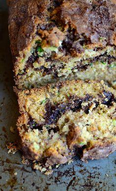 Yammie's Noshery: Cinnamon Swirl Zucchini Bread With Gluten Free Option Cinnamon Zucchini Bread, Zucchini Bread Muffins, Gluten Free Zucchini Bread, Zucchini Bread Recipes, Gluten Free Baking, Coconut Zucchini Bread, Courgette Bread, Blueberry Zucchini Bread, Gluten Free Quick Bread