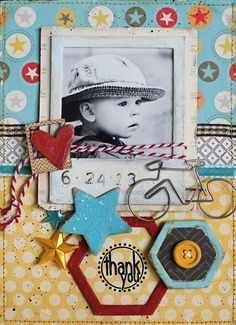 Maya road, love the colors on this #scrapbook page, #papercrafts