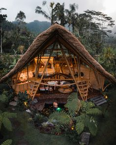 Hideout Horizon Bamboo House / Studio WNA | ArchDaily Denpasar, Bamboo Architecture, Architecture Design, Amazing Architecture, Design Architect, Bamboo House Design, Bamboo House Bali, Bali House, House 2