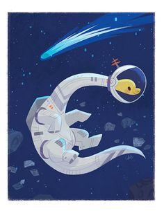 Space Bronto  8.5 x 11 by tinysnails on Etsy