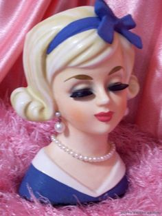 wow - THIS SOLD back in 2008 _ great to see her again_ Had Big Fun Taking Photos of this Rare Enesco Flip do Teen _ enjoy, Rozetta