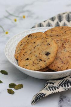 Kardamomos-csokoládés keksz recept