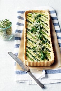 Asparagus quiche with soft ricotta filling, by Fanni & Kaneli
