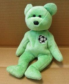 d46f3c11dcd TY Beanie Babies Kicks the Soccer Bear Plush Toy Stuffed Animal     Click  image