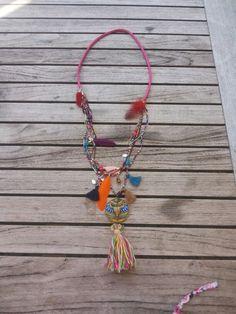 Multicolor Ibizastyle ketting