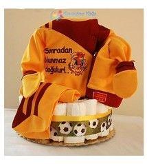 Doğuştan Aslan Bebek Bezi Pastası