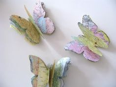 Butterflies made from maps, what?!