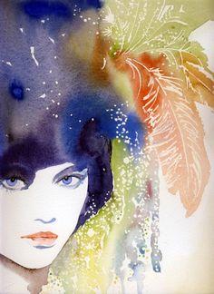 Print of Watercolor Painting Fashion van silverridgestudio op Etsy